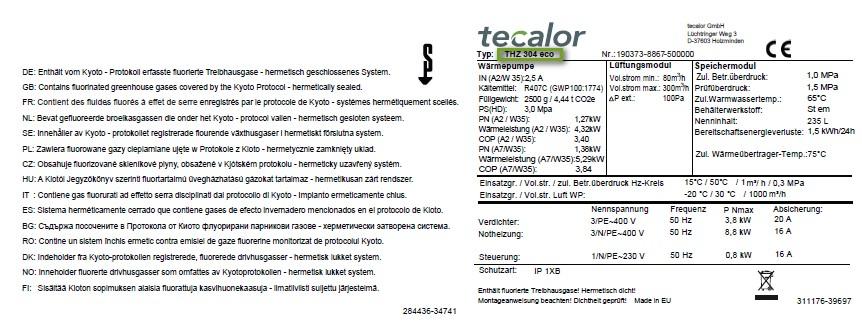 2 Stück Güteklasse M5 Ersatzfilter-Set passend für Tecalor THZ 404